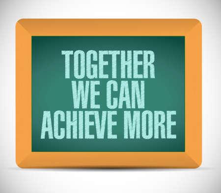 la union hace la fuerza: juntos podemos lograr m�s mensaje bordo ilustraci�n dise�o sobre un fondo blanco