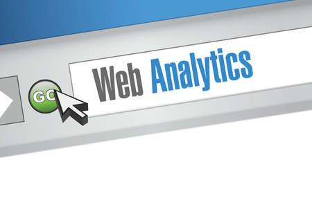 web browser: web analytics internet browser sign illustration design background