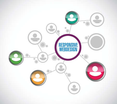 usability: responsive webdesign network communication illustration design over a white background