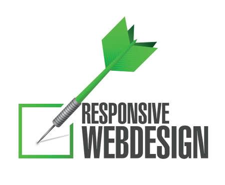responsive design: responsive webdesign dart check mark illustration design over a white background Illustration