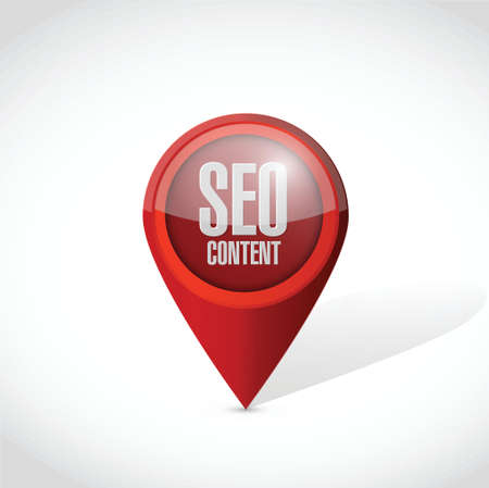 seo content locator pointer illustration design over a white background Иллюстрация