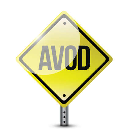 avod sign illustration design over a white background