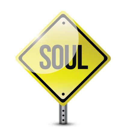 mind body soul: soul sign illustration design over a white background