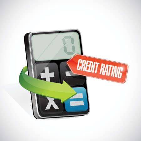 credit rating message illustration design over a white background Vector