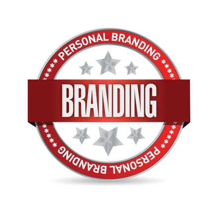 personal brand seal illustration design over a white background