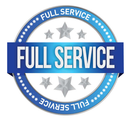 full service seal illustration design over a white background
