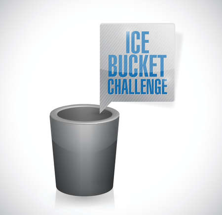 ice bucket challenge illustration design over a white background