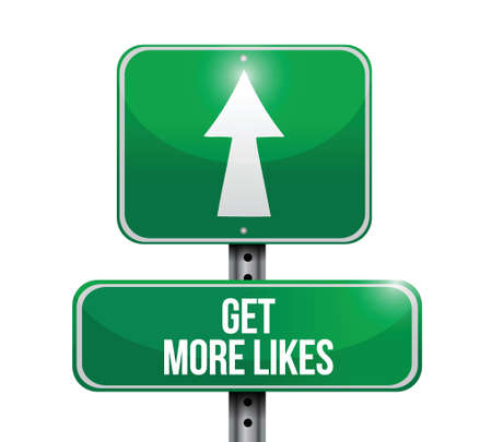 linkedin: get more likes sign illustration design over a white background