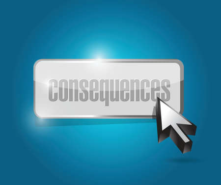 consequences: consequences button illustration design over a blue background