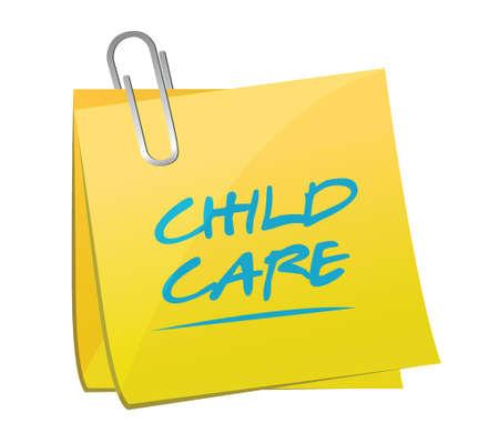 child care memo illustration design over a white background