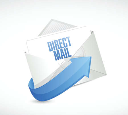 mail marketing: direct mail email message illustration design over a white background