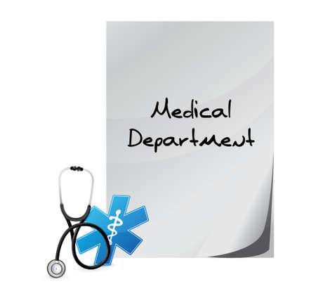 medical department sign illustration design over a white background Vector