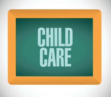 child care message on board illustration design over a white background