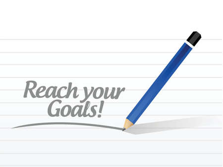 set the intention: reach your goals message illustration design over a white background