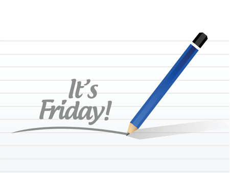 its friday message illustration design over a white background Vector