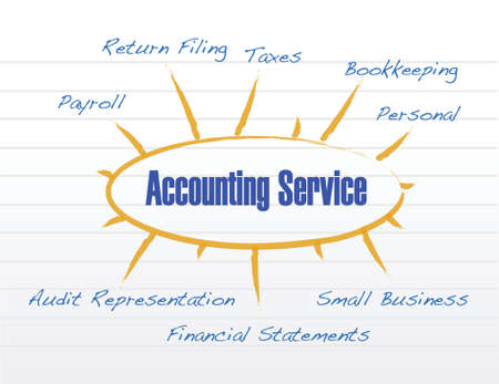 accounting service model illustration design over a white background Illustration
