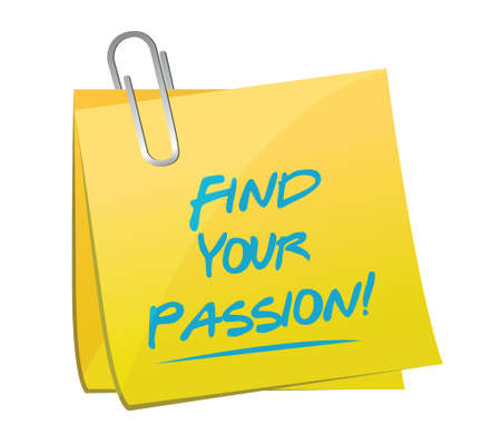 love target: find your passion memo illustration design over a white background