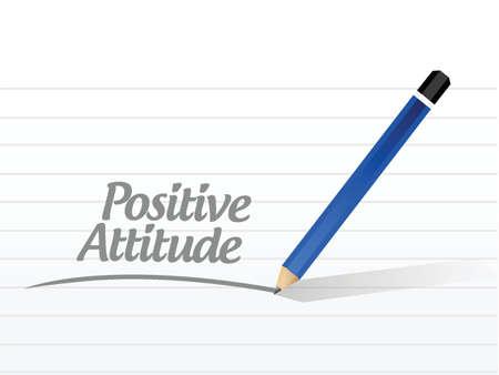 positive attitude message illustration design over a white background