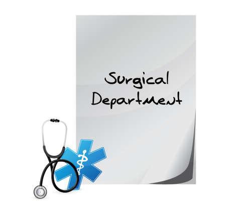 surgical department: surgical department medical message illustration design over a white background Illustration