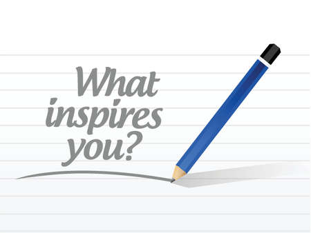 what inspires you message illustration design over a white background