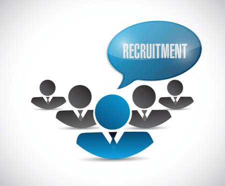 headhunter: team di reclutamento design illustrazione su uno sfondo bianco