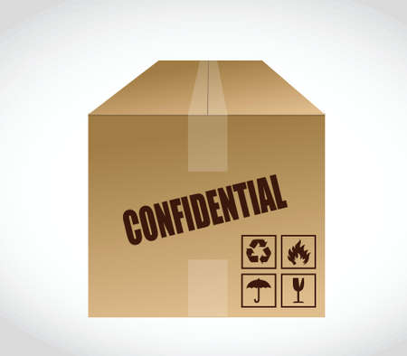 confidential box illustration design over a white background