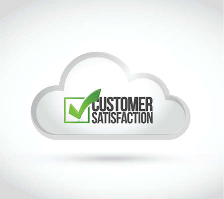 cloud computing customer satisfaction illustration design over a white background Vector