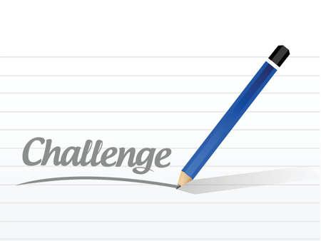challenge message illustration design over a white background Vector