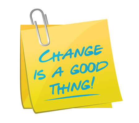 self development: change is a good thing memo illustration design over a white background Illustration
