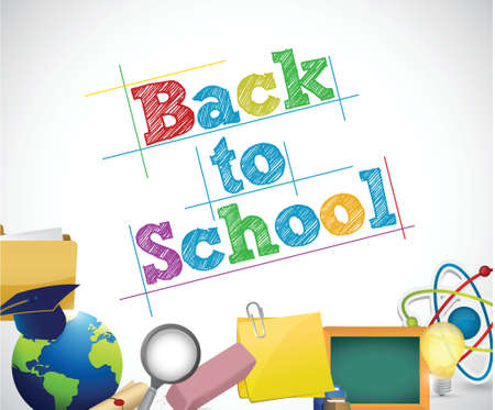 back to school education concept illustration design over a white background