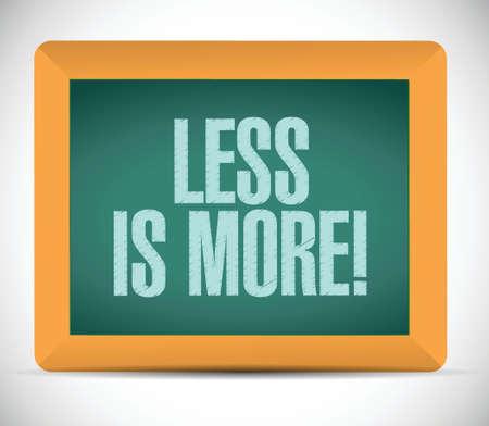 less: less is more message illustration design over a white background Illustration