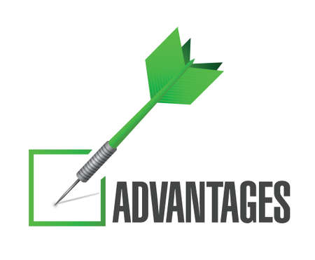 advantages: check mark advantages illustration design over a white background Illustration