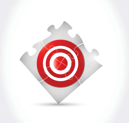 intention: target puzzle illustration design over a white background