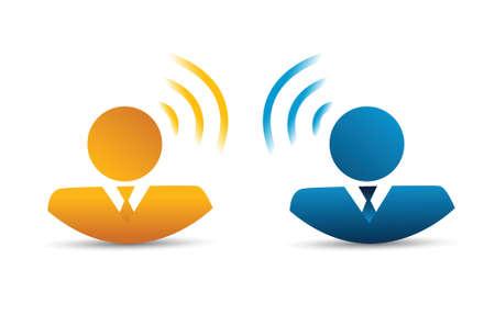 mensen communicatieverbinding concept illustratie ontwerp op een witte achtergrond Stock Illustratie