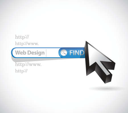 icons site search: web design search bar illustration design over a white background