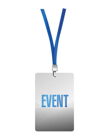 neckband: event pass illustration design over a white background