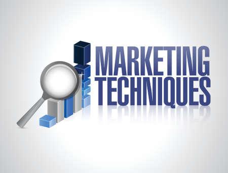 advertisment: marketing techniques sign illustration design over a white background Illustration