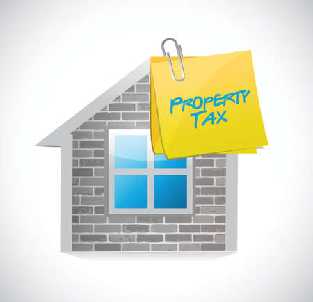home property tax concept illustration design over a white background
