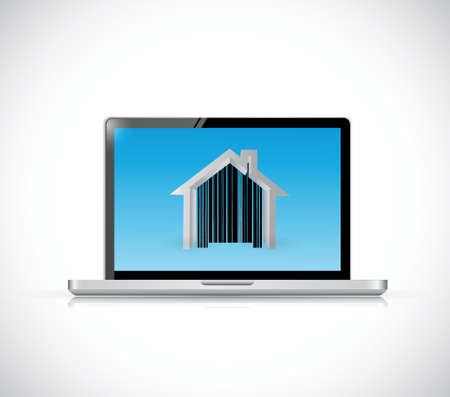 real estate computer icon illustration design over a white background Vector