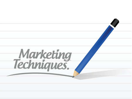 techniques: marketing techniques message illustration design over a white background Illustration
