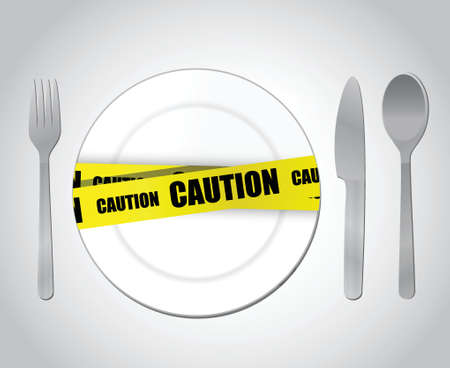 fizz: food caution concept illustration design over a white background