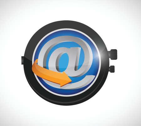 online time watch illustration design over a white background Ilustração
