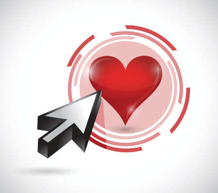 touch your heart illustration design over a white background Ilustração