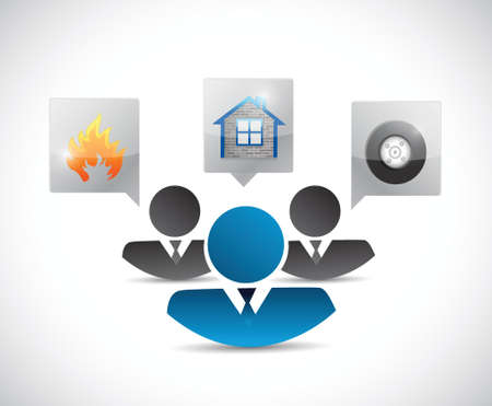 insurance concept illustration design over a white background
