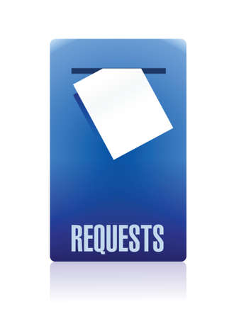 request box illustration design over a white background Ilustrace