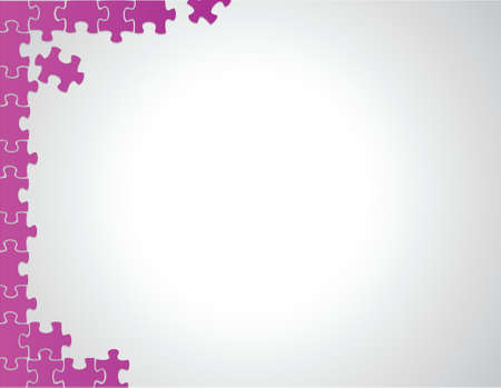 briefing: purple puzzle borders illustration design over a white background