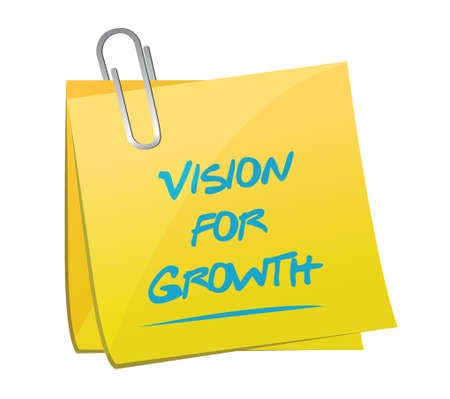 vision for growth memo post illustration design over a white background