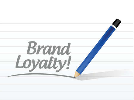 buzzwords: brand loyalty message illustration design over a white background