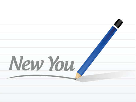 retire: new you message illustration design over a white background