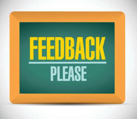 feedback please sign illustration design over a white background Vettoriali